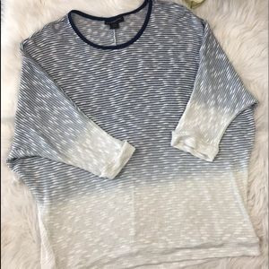 Lane Bryant Sweater in Navy Blue and White 18/20